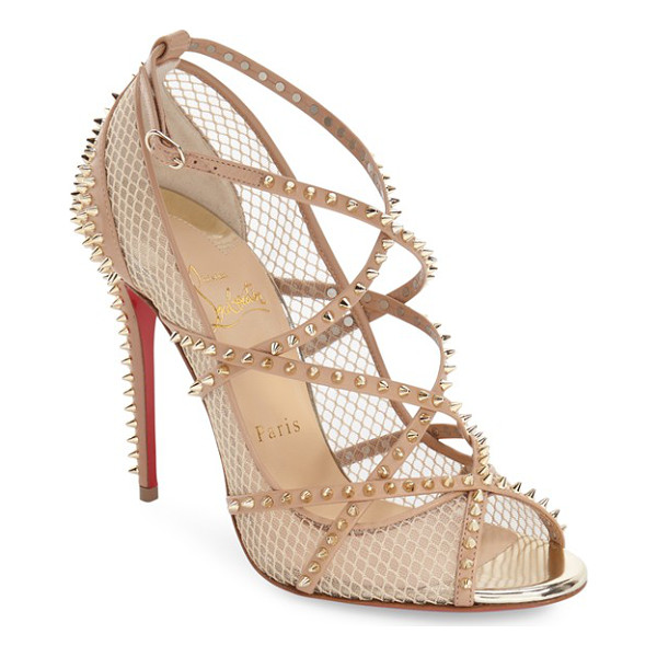 CHRISTIAN LOUBOUTIN alarc sandal - Glinting spikes add a dangerous, rock-'n'-roll element to a...