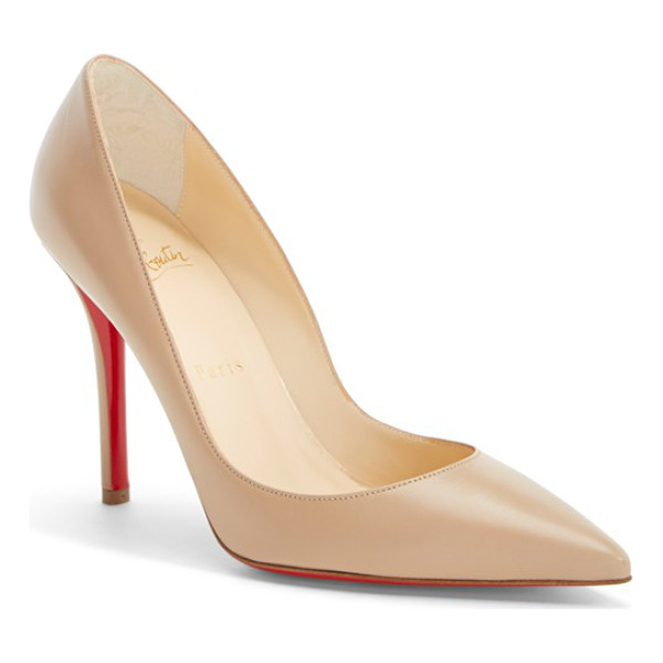 CHRISTIAN LOUBOUTIN 'apostrophy' pointy toe pump - Timeless in its design, the Christian Louboutin Apostrophy...