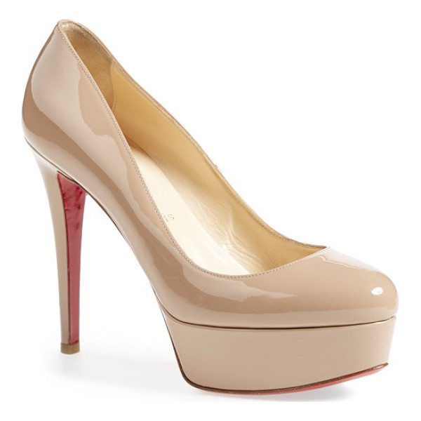 CHRISTIAN LOUBOUTIN bianca patent leather platform pump - With a classic, round-toe silhouette, soaring stiletto heel...