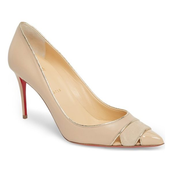 CHRISTIAN LOUBOUTIN biblio cutout pointy toe pump - A chic mix of textures and cutouts at the pointy toe make...
