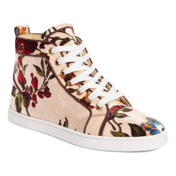 CHRISTIAN LOUBOUTIN bip bip floral sneaker - Not your garden-variety sneaker, this gorgeous style...