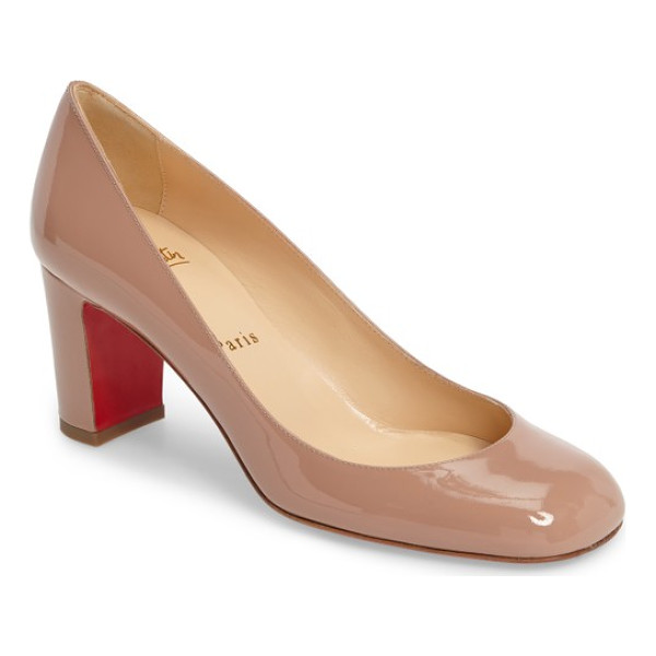 CHRISTIAN LOUBOUTIN cadrilla pump - High-shine patent leather adds luscious gleam to a
