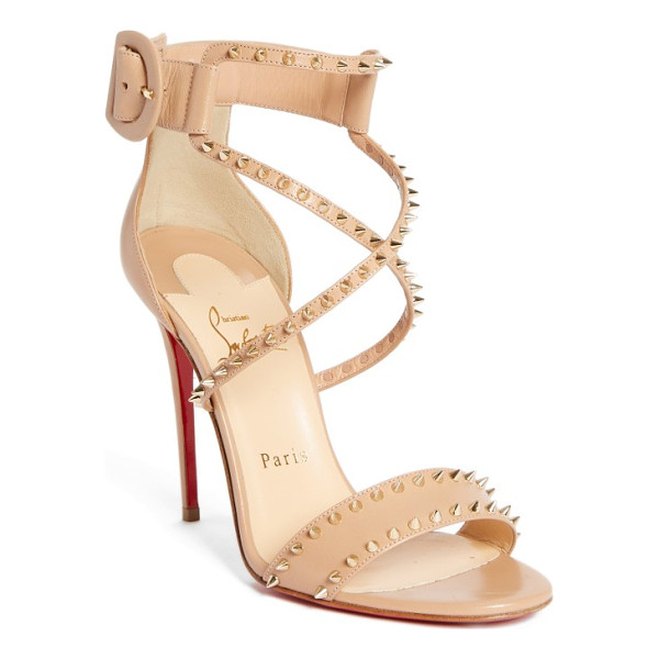 CHRISTIAN LOUBOUTIN choca criss spike sandal - Tiny studs add unmistakable rocker-chic edge to this
