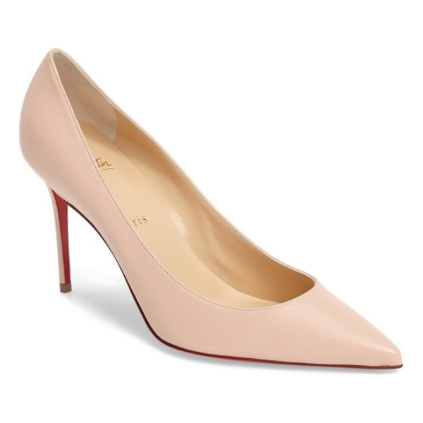 CHRISTIAN LOUBOUTIN decollette pump - A low plunging topline and a daring decollete toe set a...