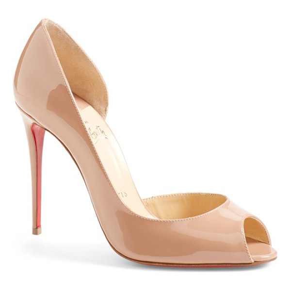 CHRISTIAN LOUBOUTIN demi half d'orsay peep toe pump - A gracefully curved half-d'Orsay pump with an alluring peep...