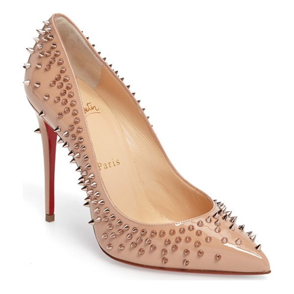 CHRISTIAN LOUBOUTIN escarpic spike pump - Tonal spikes add a hint of glam-rock edge to a sleek