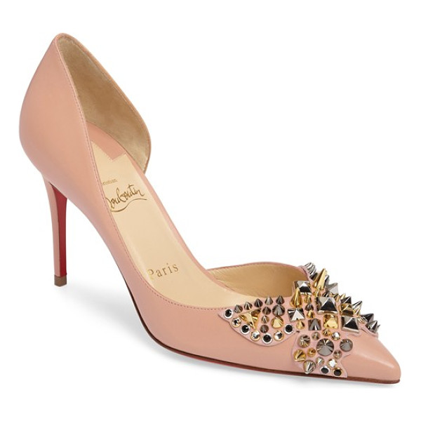 CHRISTIAN LOUBOUTIN farfaclou half d'orsay pump - Christian Louboutin's classic half-d'Orsay pump is detailed...