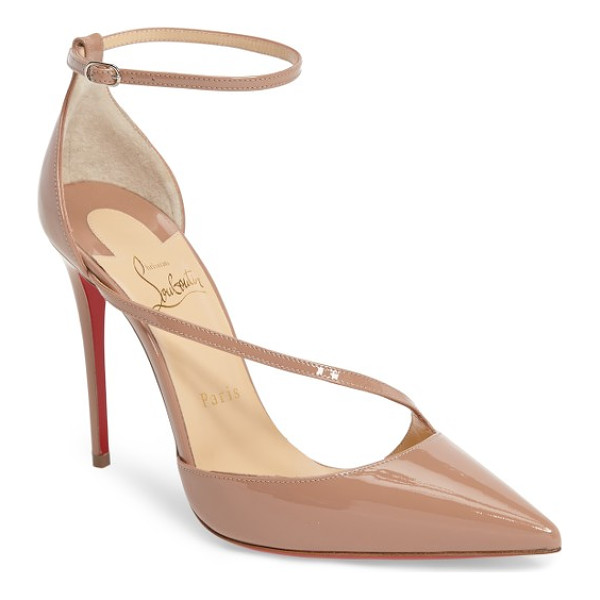 CHRISTIAN LOUBOUTIN fliketta pump - A slender band arcs across the vamp of a sultry pointy-toe