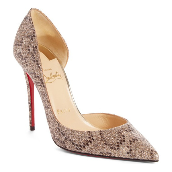 CHRISTIAN LOUBOUTIN iriza pointy toe pump - A curvy half-d'Orsay silhouette adds to the sensual look of...