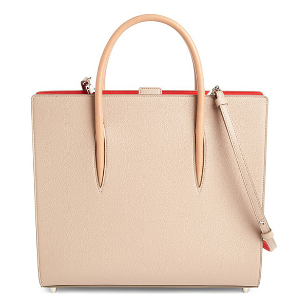 CHRISTIAN LOUBOUTIN large paloma empire calfskin leather tote - Pastel calfskin leather beautifully juxtaposes the bright...