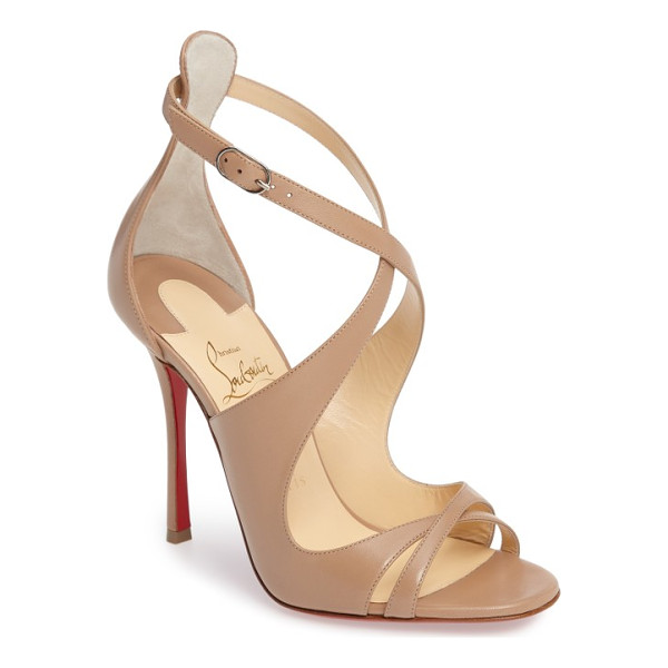 CHRISTIAN LOUBOUTIN malefissima sandal - Alluring leather straps that curve this way and that define