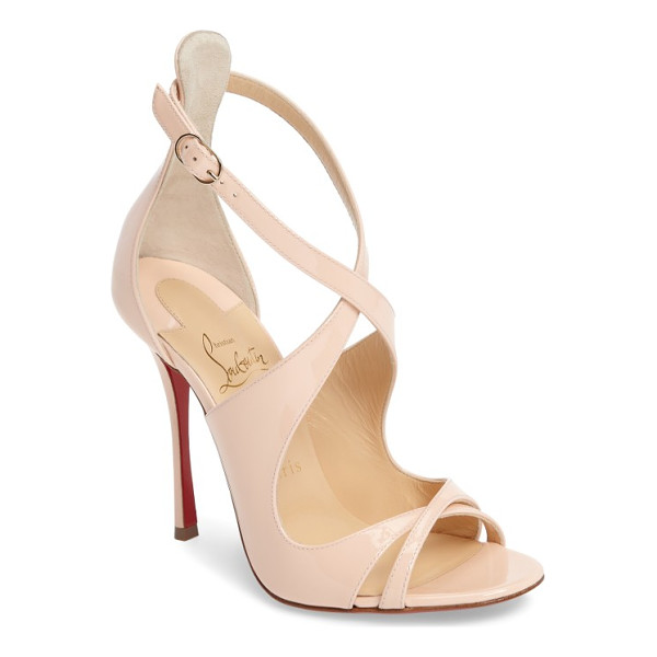 CHRISTIAN LOUBOUTIN malefissima sandal - Alluring leather straps curve this way and that on an...