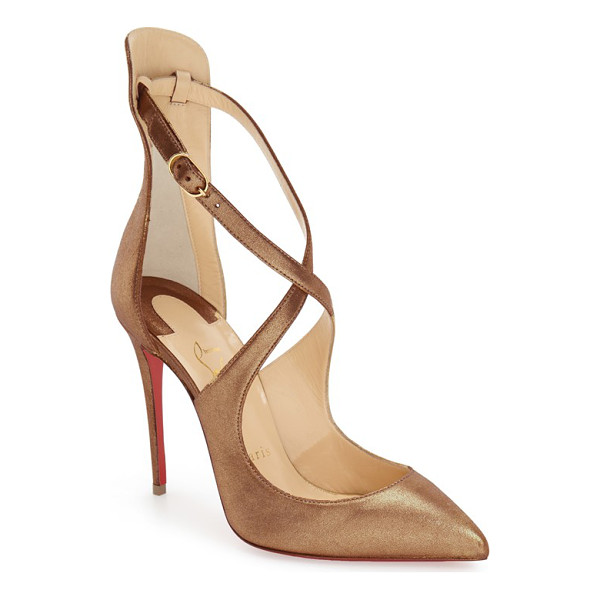 CHRISTIAN LOUBOUTIN marlena rock pointy toe pump - A soaring stiletto heel and slim, crisscrossed straps...
