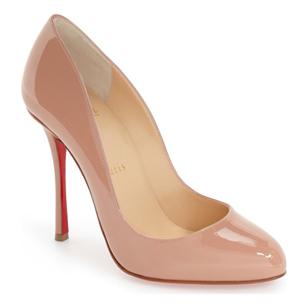 CHRISTIAN LOUBOUTIN 'merci allen' pump - A go-to style that's anything but basic, this glossy...