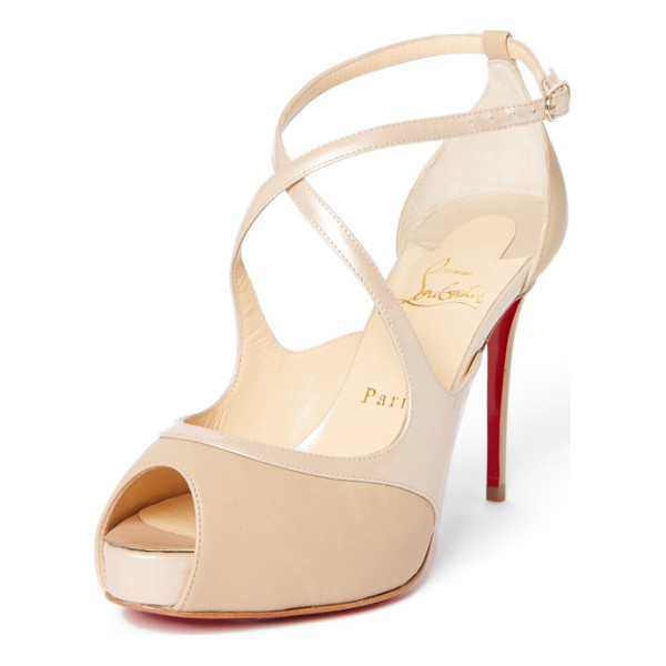 CHRISTIAN LOUBOUTIN mira bella sandal - Alluring leather straps curve this way and that on a sultry...