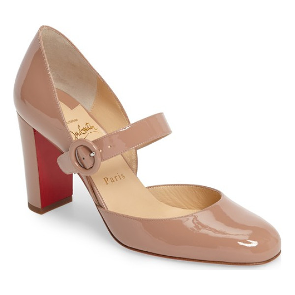 CHRISTIAN LOUBOUTIN miss kawa mary jane pump - A mary-jane strap adds a playful, retro-inspired touch to a...