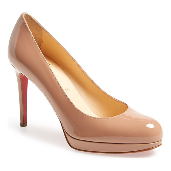 CHRISTIAN LOUBOUTIN new simple platform pump - Christian Louboutin's iconic red sole adds understated yet...