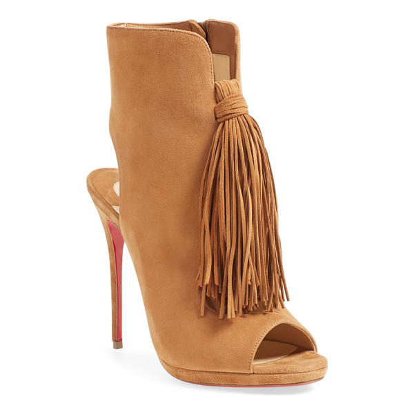 CHRISTIAN LOUBOUTIN ottoka fringe sandal - A dramatic tassel detail and smooth suede composition bring...