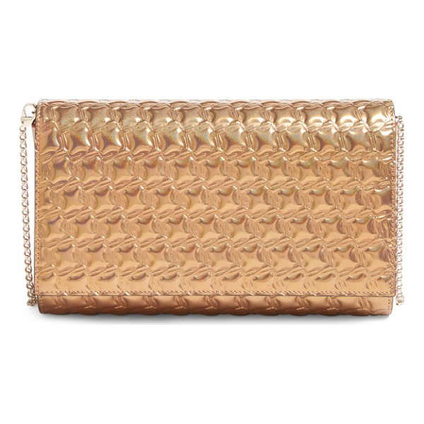 CHRISTIAN LOUBOUTIN paloma textured calfskin clutch - A chic texture highlights the glimmering metallic finish on
