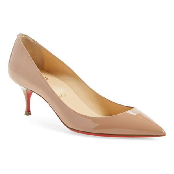 CHRISTIAN LOUBOUTIN pigalle follies pointy toe pump - Anything but basic, the timeless pointy-toe Pigalle Follies...