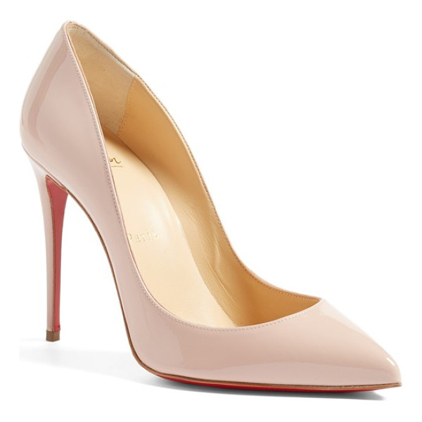 CHRISTIAN LOUBOUTIN 'pigalle follies' pointy toe pump - A go-to style that's anything but basic, this glossy...