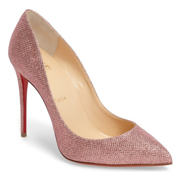 CHRISTIAN LOUBOUTIN pigalle follies woven glitter pump - Confident, iconic and effortlessly chic, the Pigalle...