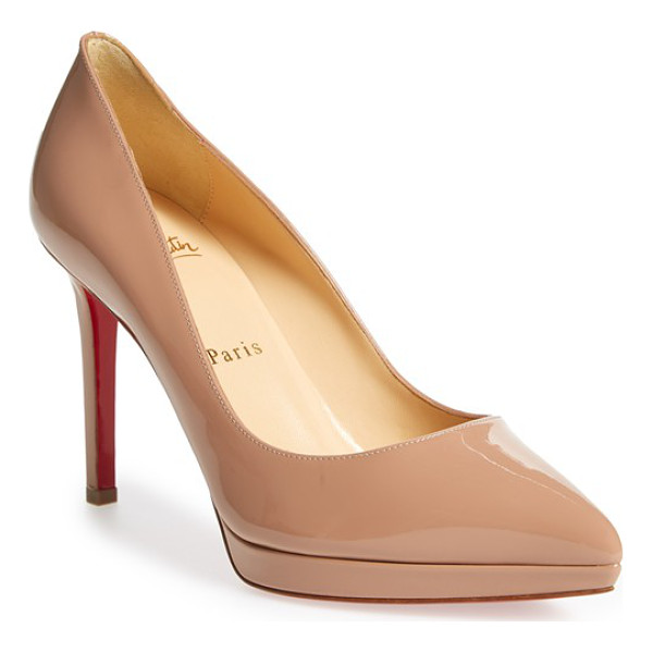 CHRISTIAN LOUBOUTIN pigalle plato pointy toe platform pump - A go-to style that's anything but basic, the pointy-toe...