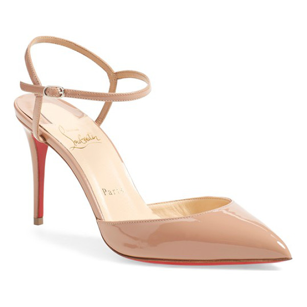 CHRISTIAN LOUBOUTIN rivierina ankle strap pump - A look that's anything but basic, the Rivierina pump...