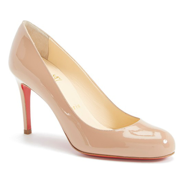 CHRISTIAN LOUBOUTIN simple pump - Sleek curves define a classic round-toe pump available in