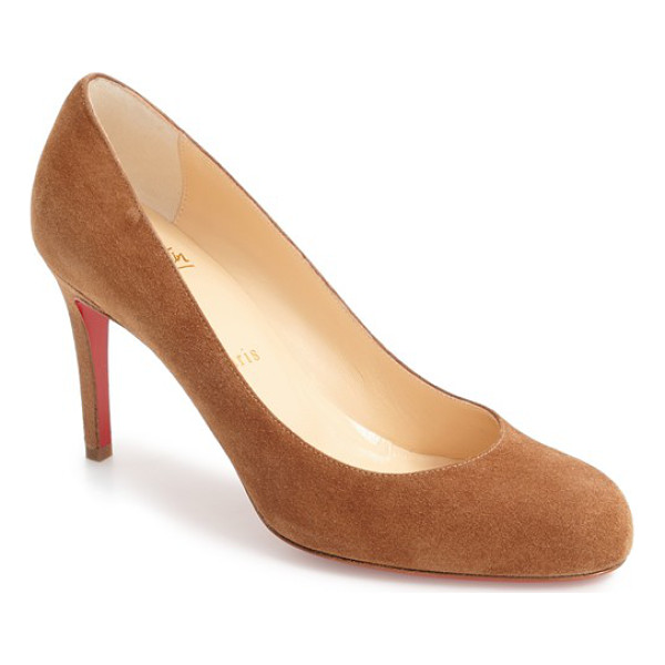 CHRISTIAN LOUBOUTIN simple pump - Sleek curves define a classic round-toe pump with a