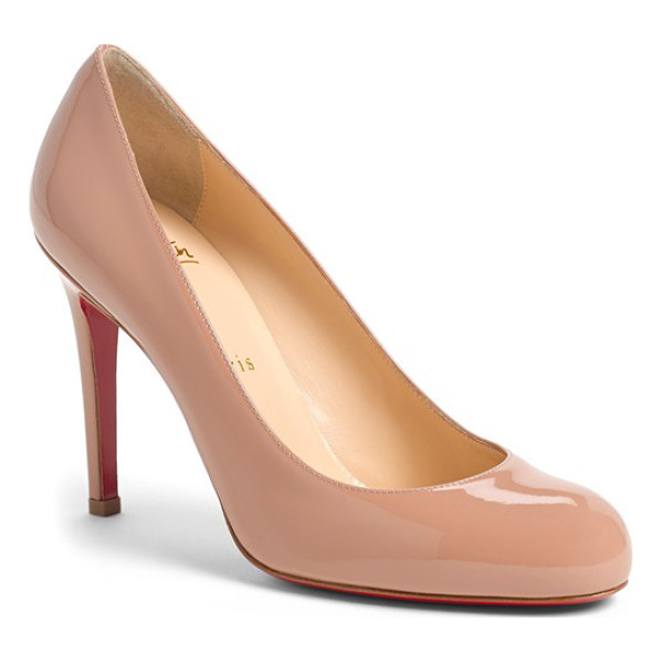CHRISTIAN LOUBOUTIN 'simple' single sole pump - Delectable leather complements the sleek curves of a...