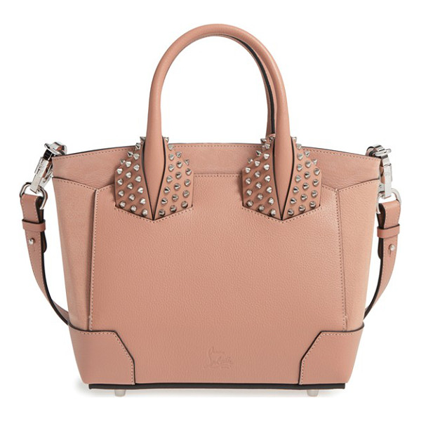CHRISTIAN LOUBOUTIN Small eloise studded calfskin satchel - Polished cone studs stand out along the crossbody strap and...