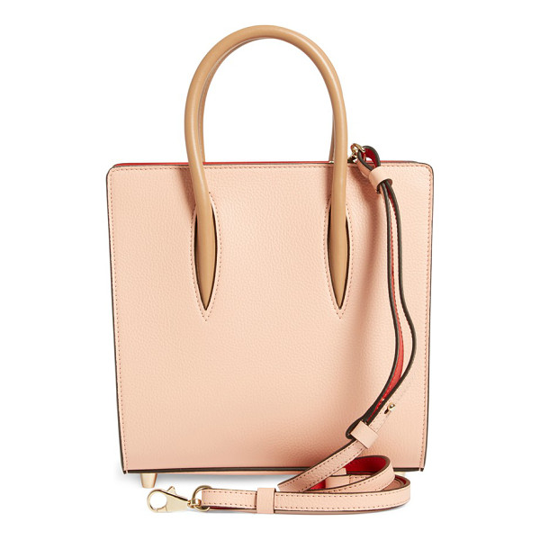 CHRISTIAN LOUBOUTIN Small paloma empire calfskin leather tote - Pastel calfskin leather beautifully juxtaposes the bright...