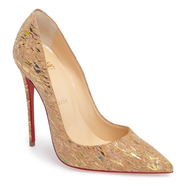 CHRISTIAN LOUBOUTIN 'so kate' pointy toe pump - A contrasting heel lends a little extra oomph to a