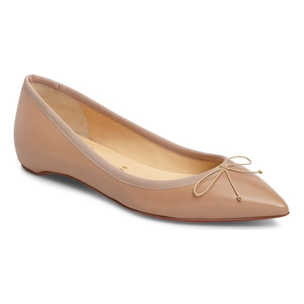 CHRISTIAN LOUBOUTIN solasofia pointy toe flat - A hidden wedge adds just-right height to this impeccable...