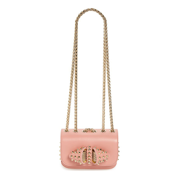 CHRISTIAN LOUBOUTIN Sweet charity spike calfskin shoulder bag - Edgy meets sweet in a structured, utterly feminine shoulder...