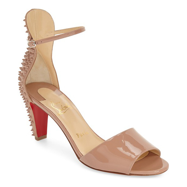CHRISTIAN LOUBOUTIN trezanita spiked sandal - Dangerous-looking spikes bristle at the back of a glossy...