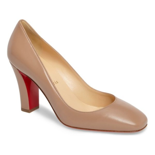 CHRISTIAN LOUBOUTIN viva pump - An architectural block heel provides walkable height to a...
