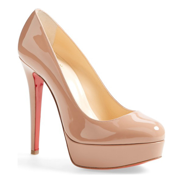 CHRISTIAN LOUBOUTIN bianca platform pump - Show off Christian Louboutin's iconic red sole beneath the...