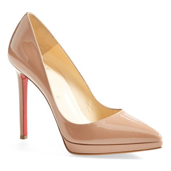 CHRISTIAN LOUBOUTIN 'pigalle plato' pointy toe pump - A go-to style that's anything but basic, this glossy...