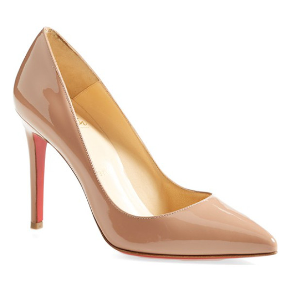 CHRISTIAN LOUBOUTIN pigalle pointy toe pump - This timeless pointy-toe Pigalle pump catches the eye in...
