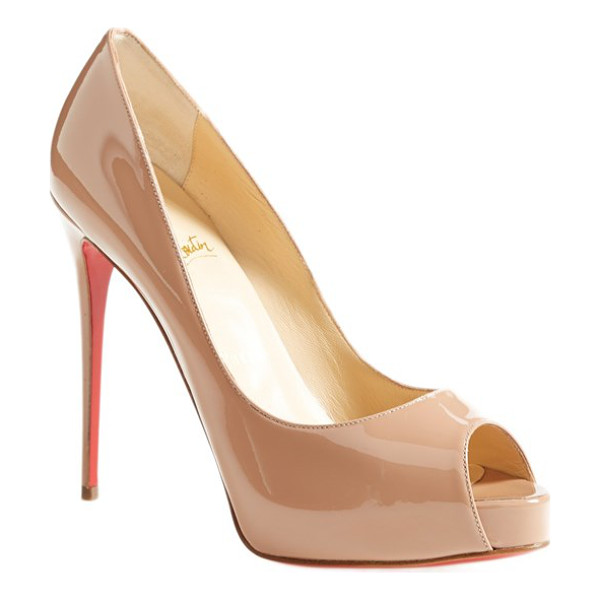 CHRISTIAN LOUBOUTIN 'prive' open toe pump - This classic low-cut pump perched on an expertly...