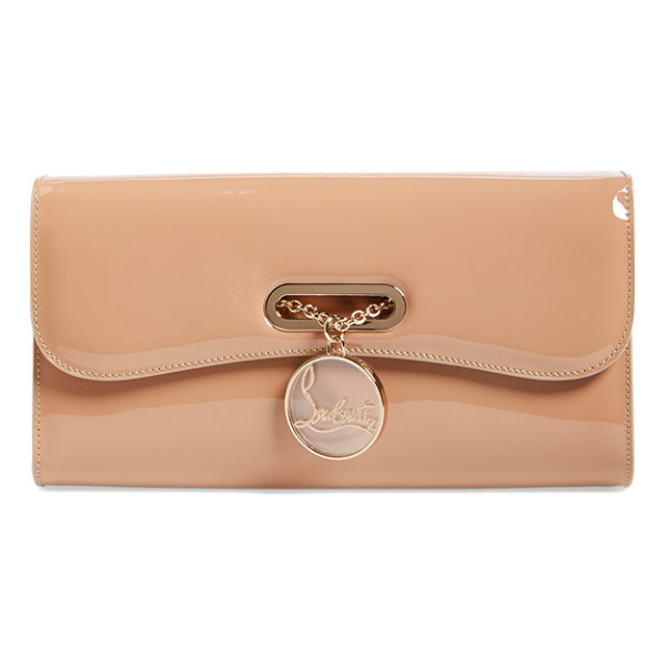 CHRISTIAN LOUBOUTIN Riviera patent leather clutch - Inspired by the ladies of the Cote d'Azur, an exquisite...