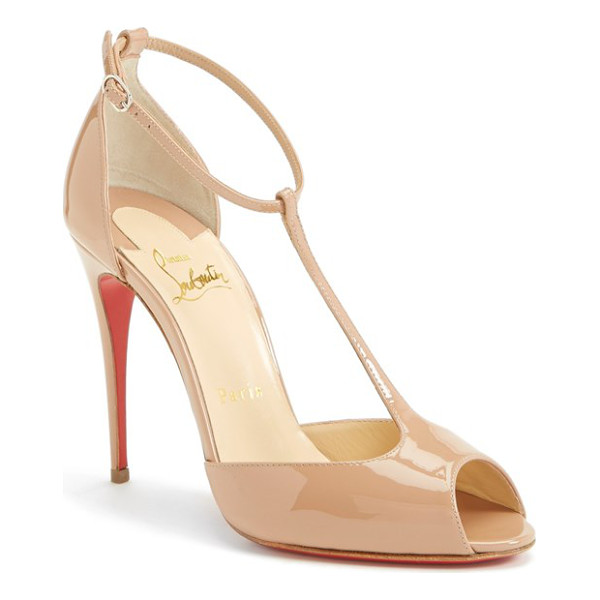 "CHRISTIAN LOUBOUTIN senora t-strap open toe pump - A shoe has so much more to offer than just to walk.""..."