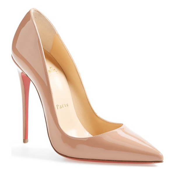 CHRISTIAN LOUBOUTIN 'so kate' pointy toe pump - This glossy So Kate pump boasts Christian Louboutin's