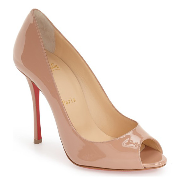 CHRISTIAN LOUBOUTIN yootish peep toe pump - High-shine patent leather extends the timeless...