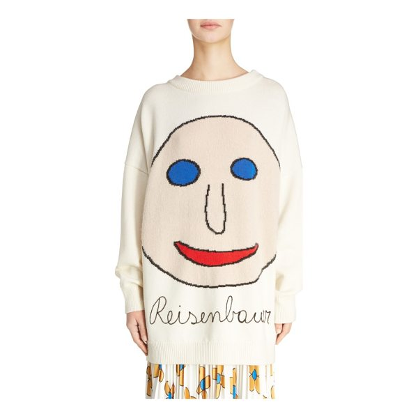 CHRISTOPHER KANE reisenbauer intarsia face sweater - Get your grin on in a slouchy oversized sweater knit with a...