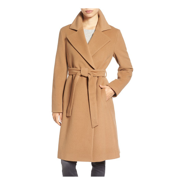 CINZIA ROCCA ICONS wool blend long wrap coat - Softly structured from a lush wool blend enriched with...