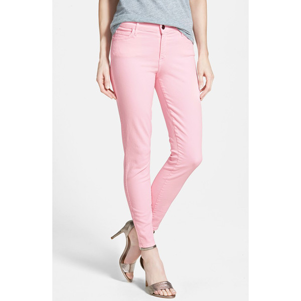 CJ BY COOKIE JOHNSON wisdom colored stretch ankle skinny jeans - Fresh, springy hues get comfortable ankle-length skinny...