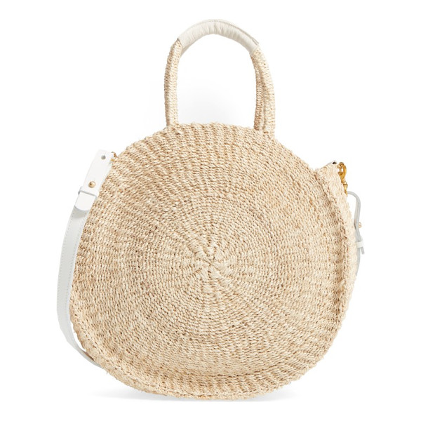 CLARE V. alice sisal tote - This round, roomy tote is handwoven from sisal fiber by a...